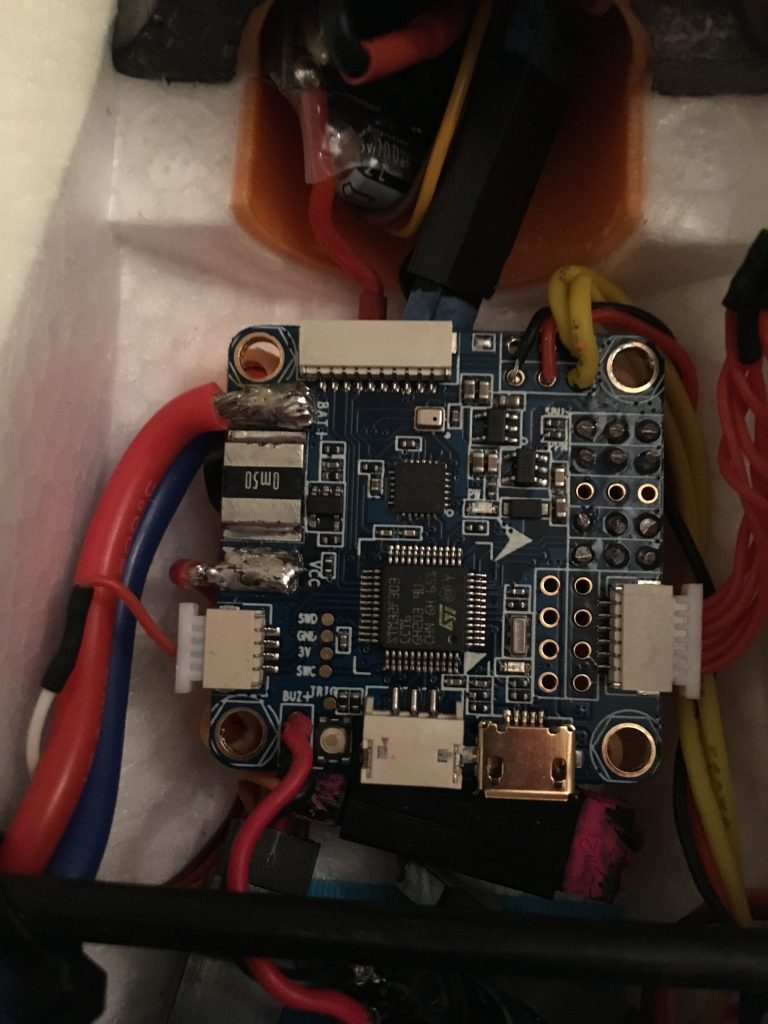 Z84 flight controller with all connections made